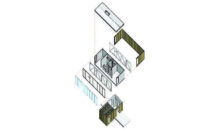 Дом из двух модулей.