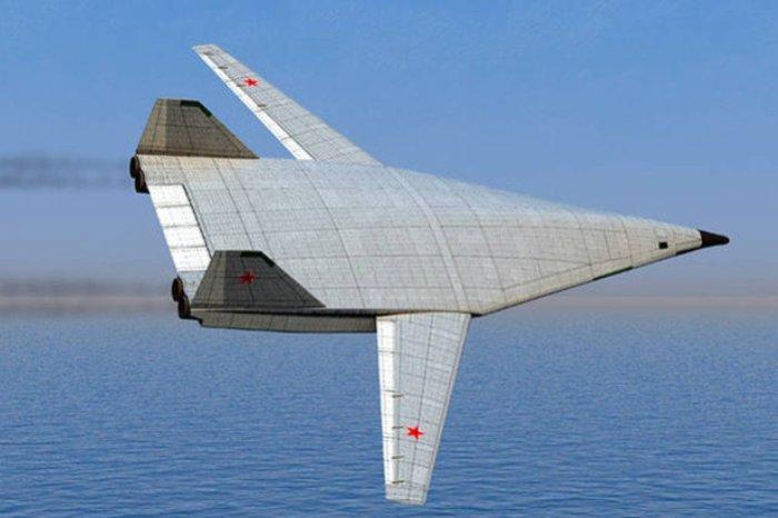 ПАК ДА - самолет, выполненый по схеме «летающее крыло».
