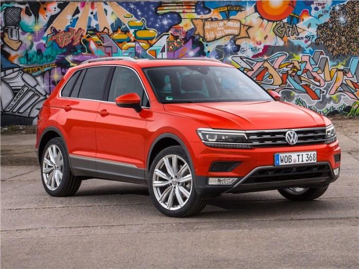 Немецкий кроссовер Volkswagen Tiguan дешевеет очень медленно. | Фото: motorpage.ru.