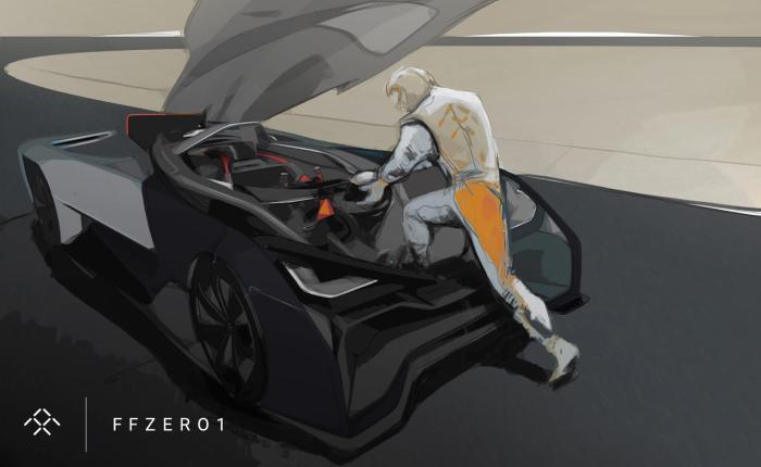 Рисунок концепта Faraday Future FFZERO1.