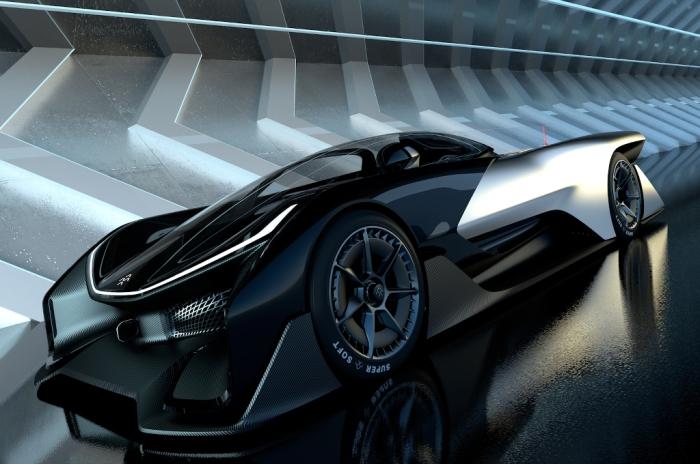«Космический» электромобиль Faraday Future FFZERO1 с управлением от смартфона.