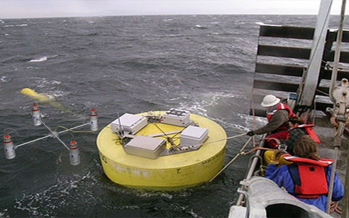 Плавучая волновая станция производства Ocean RusEnergy.