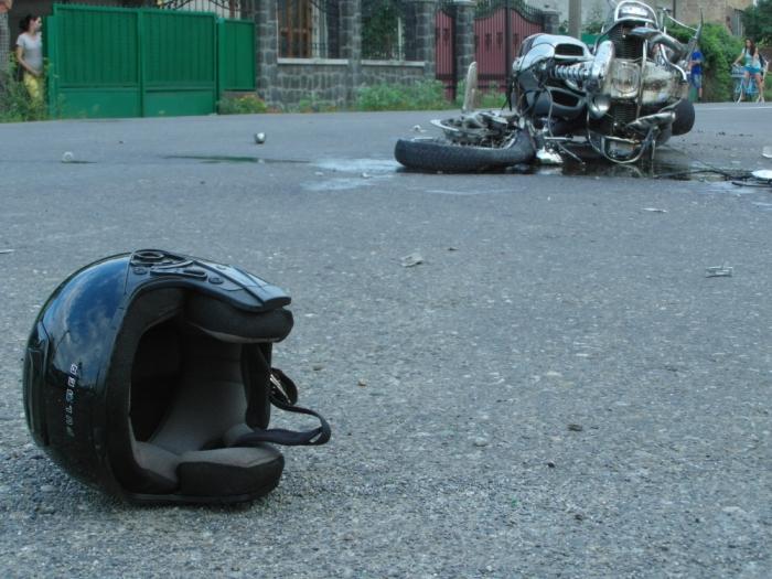 Печальные последствия для неопытного мотоциклиста.