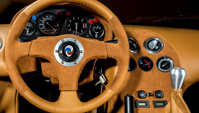 Полностью кожаный салон Panoz Esperante GTR-1 Le Mans Homologation Special.