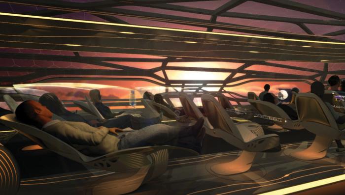 Многофункциональные сиденья на новом авиалайнере Airbus. | Фото: robbreport.com.