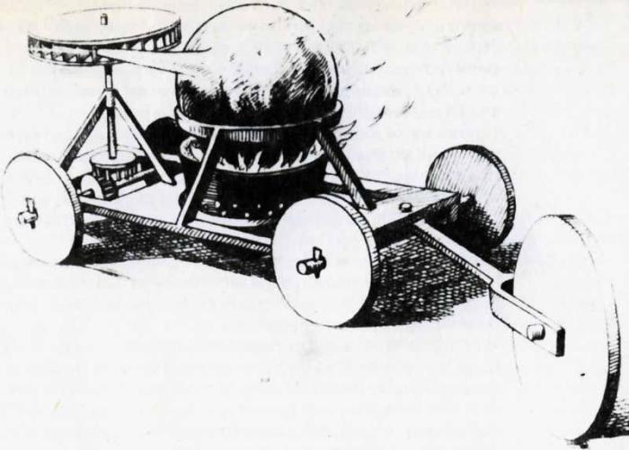 Паровая машина, разработанная Фердинандом Вербистом в 1678 году.