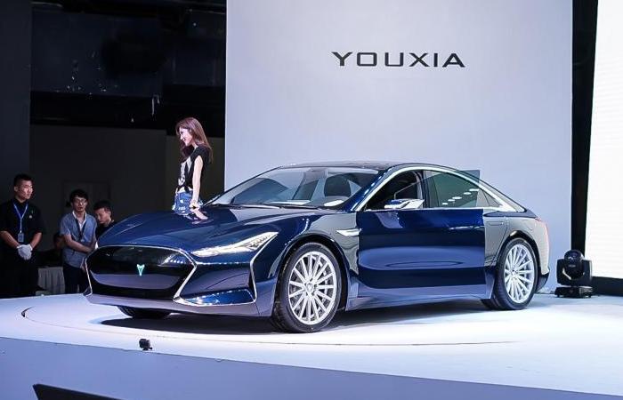 Электрокар Youxia Ranger X как две капли воды похож на Tesla Model S.