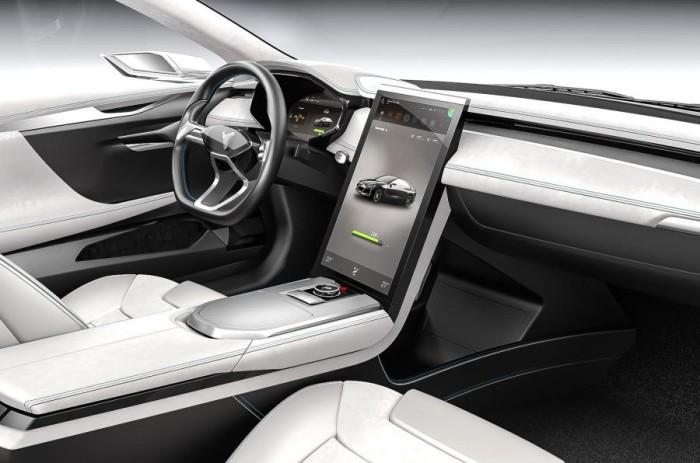 В салоне Youxia Ranger X стоит большой центральный дисплей, мультимедийная система на базе Android и синтезатор звука спортивного автомобиля.