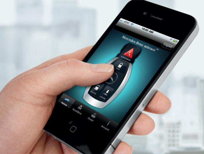Удаленное управление автомобилем Mercedes-Benz со смартфона.