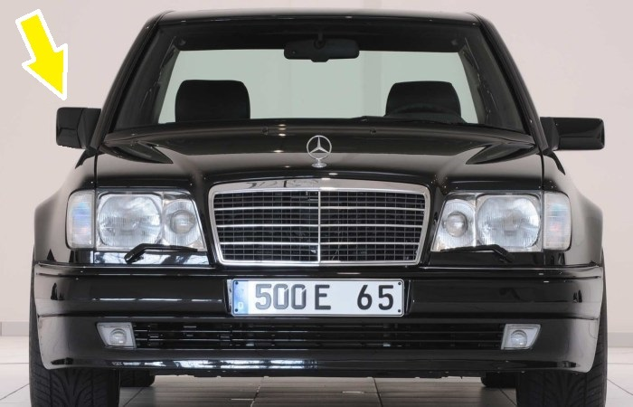 5-литровый Mercedes-Benz в кузове W124. | Фото: youtube.com.