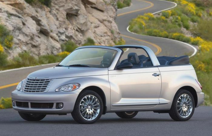 Американский кабриолет в стиле ретро Chrysler PT Cruiser Convertible.