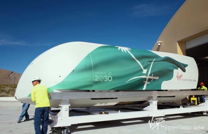 Капсула вакуумного поезда Hyperloop One. | Фото: youtube.com.