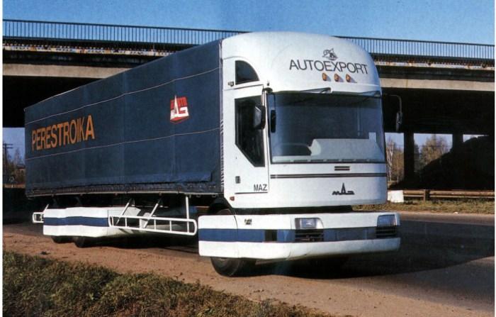 Концепт грузовика эпохи 80-х МАЗ-2000 «Перестройка».