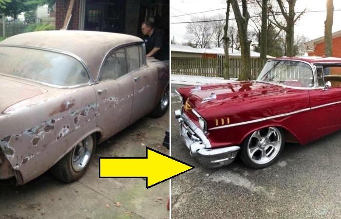 Старый автомобиль получил вторую жизнь.
