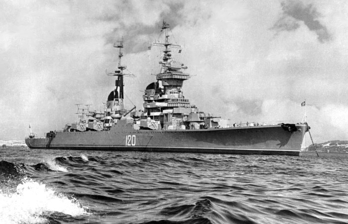 Крейсер «Мурманск» - гордость Северного флота СССР.