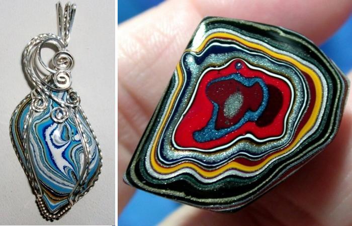 Из искусственного камня, фордита, можно сделать замечательные украишения.