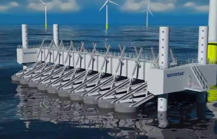 Проект сверхмощной волновой электростанции Wave Star.