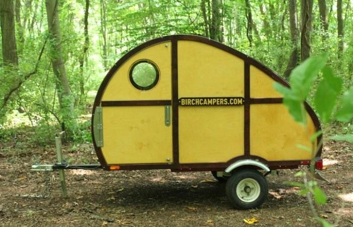 Деревянный домик на колесах Sprig. | Фото: birchcampers.com.