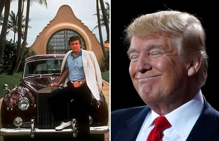 Дональд Трамп и его первая машина.