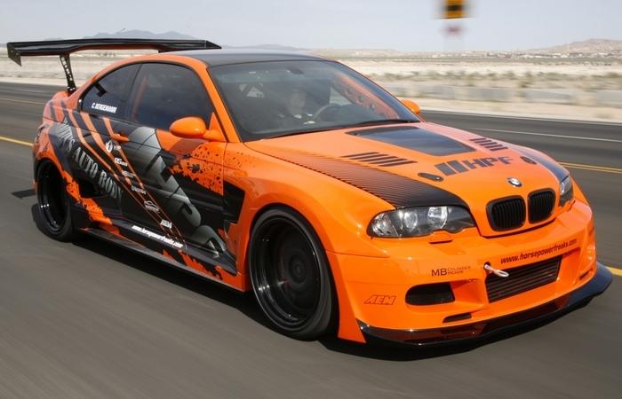 Оранжевый BMW M3 HPF Turbo Stage 4 E46. | Фото: bmwm3wallpaper.com.