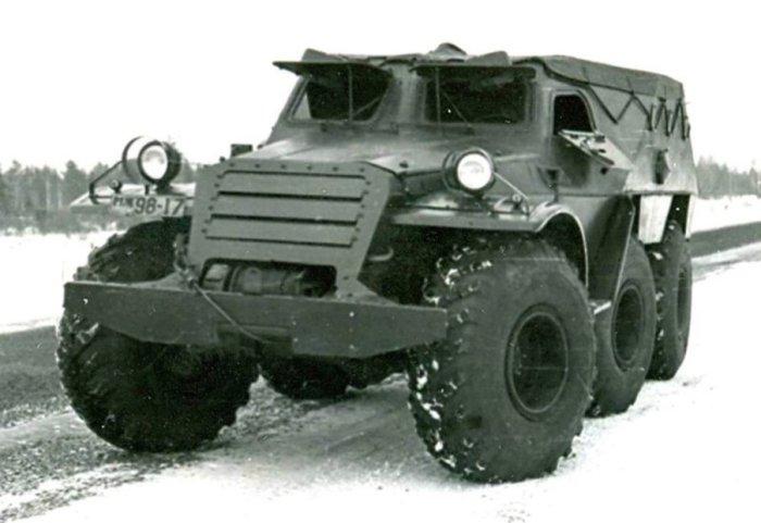 Броневик БТР-Э152В. Экспериментальная модель.