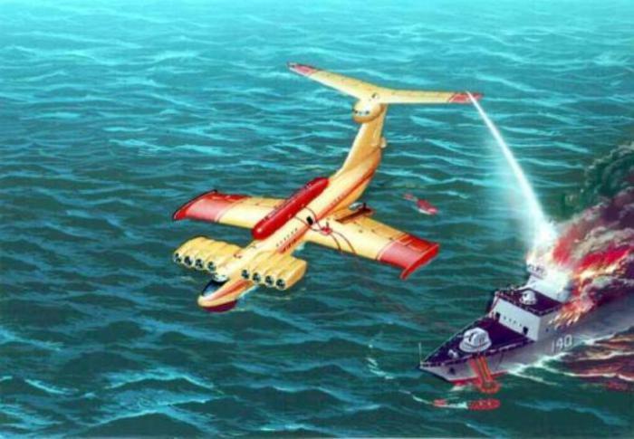 Российский проект экраноплана «Спасатель», способного оказывать помощь на удалении до 3000 км.