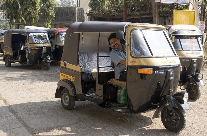 Моторикша в Индии. | Фото: thecityfix.com.