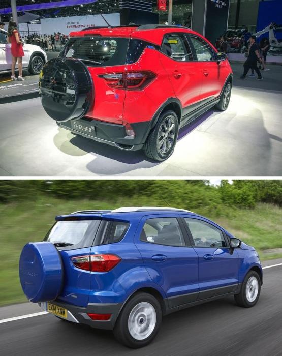 Мини-кроссоверы Ford EcoSport и BYD Yuan EV360.