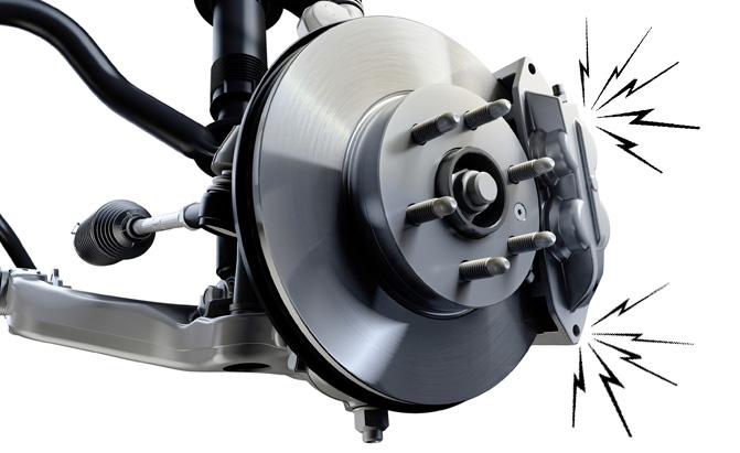 Именно этот узел издает противный скрип при торможении. | Фото: autoguide.com.
