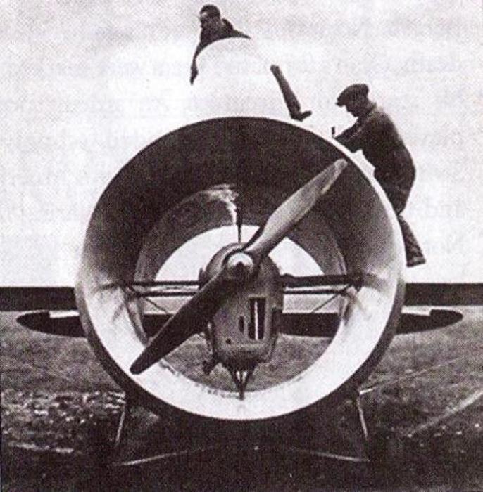Импеллер – компоновочная схема самолета с пропеллером, заключенным в корпус. | Фото: wikipedia.org.