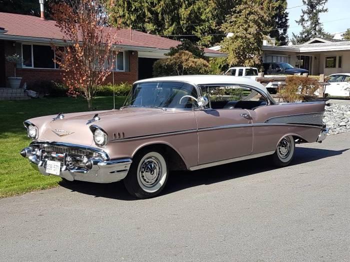 Так выглядел Chevrolet Bel Air 1957 года, когда был новым. | Фото: hemmings.com.