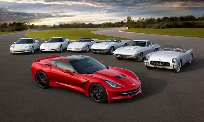 Преемственность поколений Chevrolet Corvette.