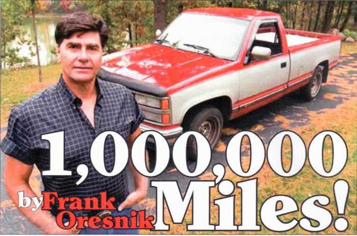 Френк Оресник и его пикап Chevrolet Silverado 1991 года. | Фото: jackmaxton.wordpress.com.