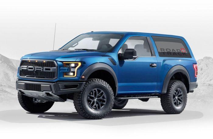 Предполагаемый облик нового Ford Bronco. | Фото: roadandtrack.com.