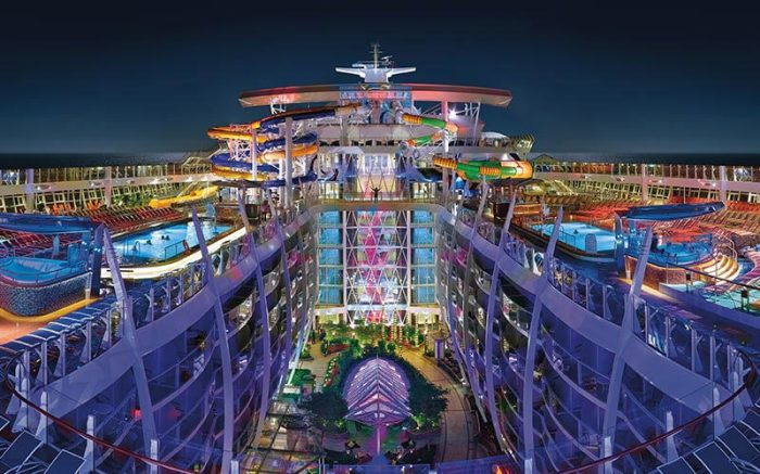 Вид на палубу Harmony of the Seas. | Фото: royalcaribbean.co.uk.