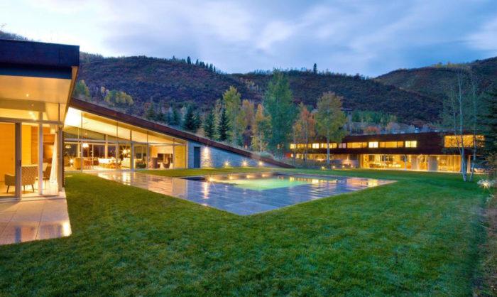 Частный особняк в горах Rocky Mountain.
