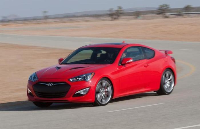 Hyundai Genesis – небольшое спортивное купе.