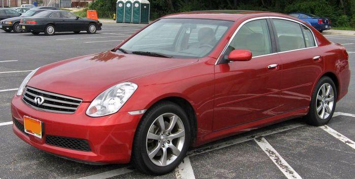 Infiniti G35 третьего поколения (2002-2007 г.в.).