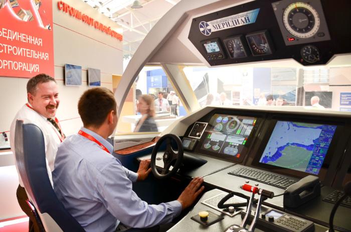 Макет ходовой рубки морского пассажирского судна «Комета 120М». | Фото: radar-mms.com.