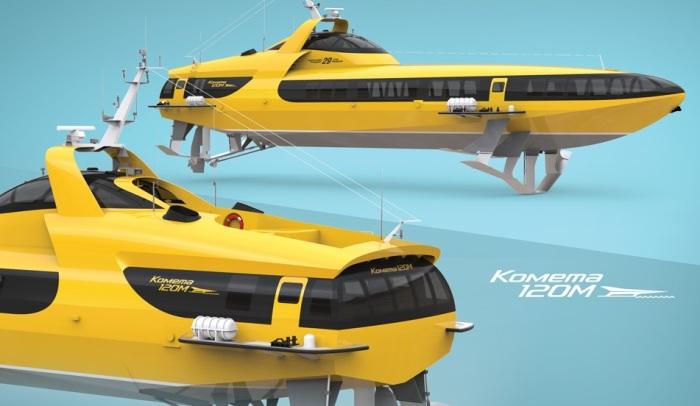 Детали конструкции судна на подводных крыльях «Комета 120М». | Фото: vympel-rybinsk.ru