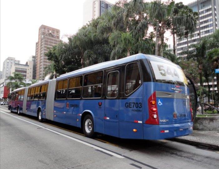 Голубой гигант Куритибы - Neobus Mega BRT Volvo B12M.