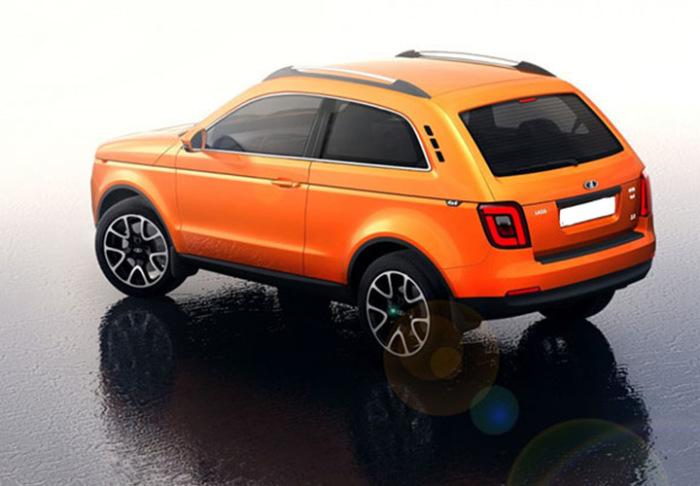 В оригинальном дизайне российского кроссовера Lada 4X4 легко угадывается легендарная «Нива». Фото: 2018god.net.