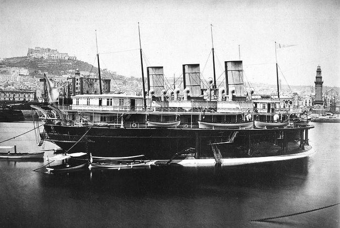 Императорская яхта «Ливадия», 1880-е гг. | Фото: ru.wikipedia.org.
