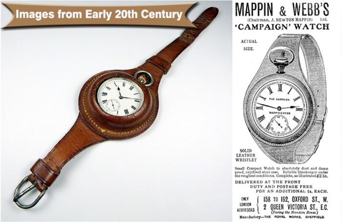Наручные часы британской фирмы Mappin and Webb.