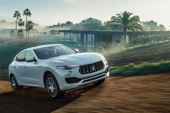 Белоснежный Maserati Levante – первый внедорожник компании.