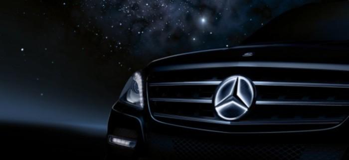 Прожектор на светодиодах, установленный на Mercedes-Benz.