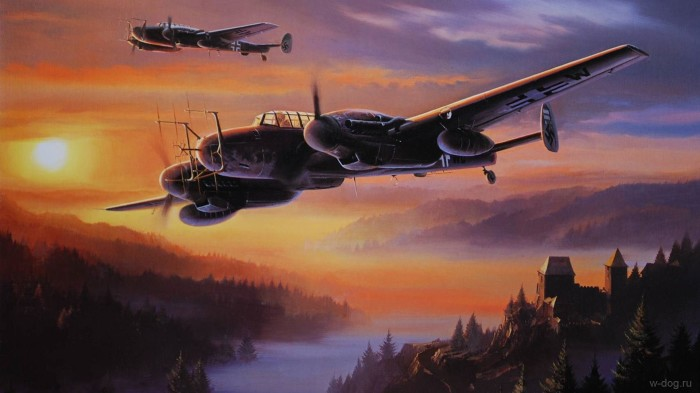 Двухмоторный Messerschmitt Bf.110 известен прежде всего как ночной истребитель. | Фото: million-wallpapers.ru.