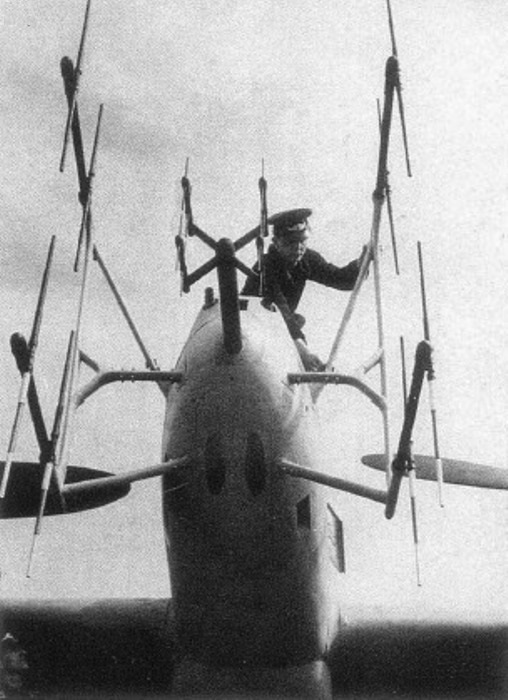 Антенны разных типов на Messerschmitt Bf.110 летчики и вспомогательный персонал называли «оленьими рогами» и «усами майского жука». | Фото: airsoc.com.
