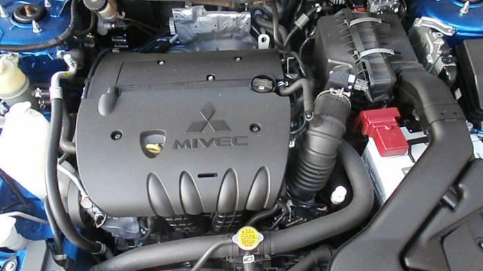 2,0-литровый японский двигатель Mitsubushi 4B11. | Фото: youtube.com.