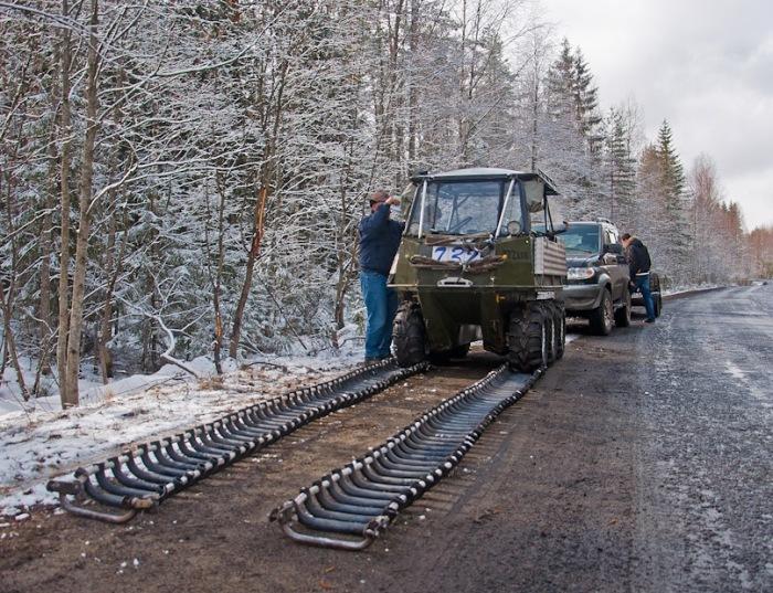 Подготовка к установке гусениц. | Фото: drive2.ru.
